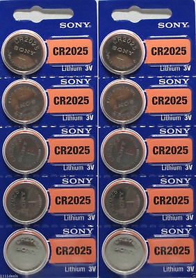 Lot of 20 **FRESH NEW** SONY CR2025 Lithium Battery 3V Exp 2027 Coin Cell