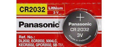 1 x SUPER FRESH Panasonic ECR2032 CR2032 Lithium Battery 3V Coin Cell Exp. 2027
