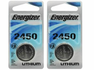 2 x Super Fresh Energizer CR2450 ECR 2450 3v LITHIUM Coin Cell Battery Exp. 2026