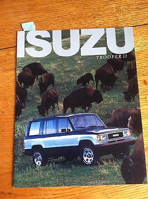 1987 Isuzu Tooper Ii  Sales Brochure, Original Item Not A Re-Print
