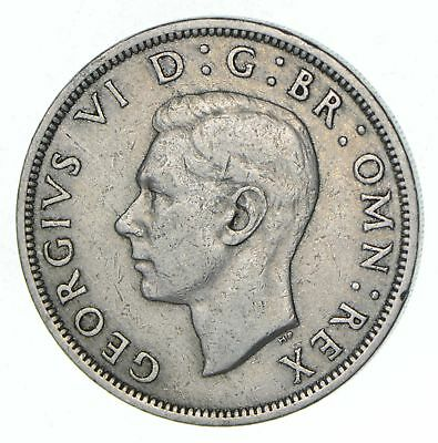 Roughly Half Dollar Size 1948 Great Britain Half Crown - Silver Coin 14.1g *533