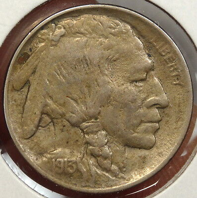 1913 Type 1 Buffalo Nickel, Almost Uncirculated, Original & Nice Color  0324-01