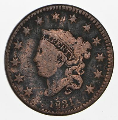 1831 - US Type Coin Matron Head Large Cent *751