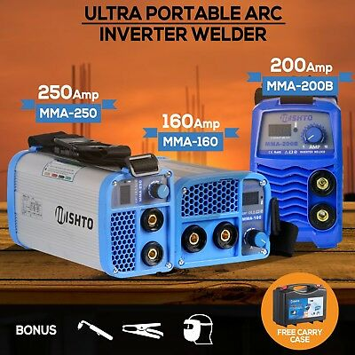Utra-Portable 160Amp / 200Amp / 250Amp Inverter-Welder-MMA-ARC-Stick-Welder iGBT