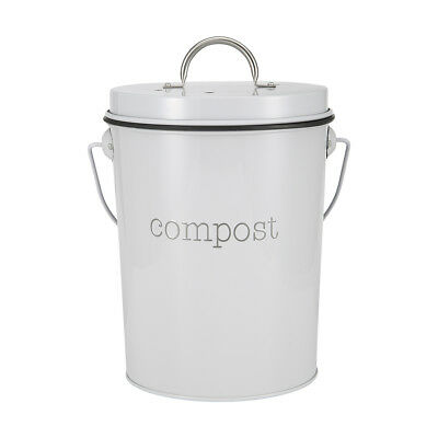 24cm Compost Bin Waste Composter Food Garden Recycling Tumbler Scrap Trash Home