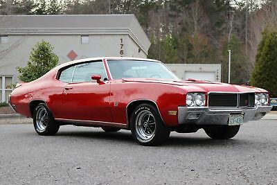 Buick GS455 GS 455 1970 BUICK GS 455 2 DR  RED/BLK AUTO,A/C,ALL PWR,455 V8 LOOKS/RUNS GREAT.