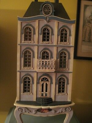 Beautiful handmade 1:48 inch scale  miniature French Chateau dollhouse