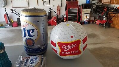 "Large Miller Lite Inflatable Beer Can - Approx. 24"" Tall - New NIP"