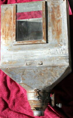 Vintage Flour Sifter and Bin. Glass Window