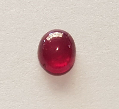 Red Madagascan Pidgeon Blood Ruby Gemstone Approximately 1.31ct Oval Cut