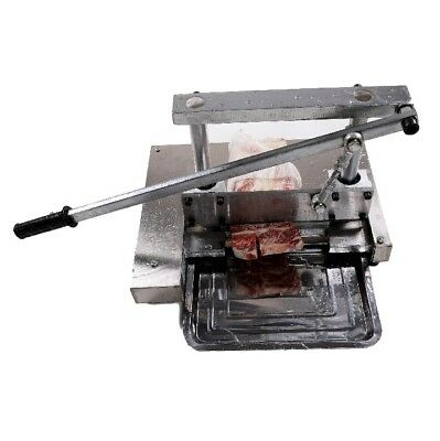 Manually Pig Bone Cutter Saw Chop Cutting Machine Steak Stainless Steel