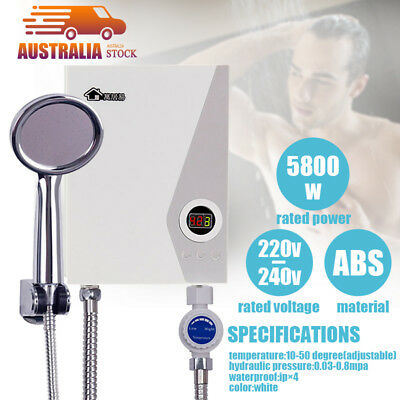 Shower System Instant Caravan Camping Mini Portable Electric Hot Water Heater AU