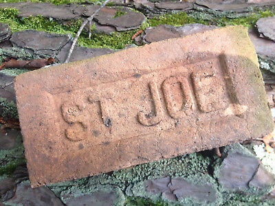 "Antique ""ST JOE"" stamped paver bricks"