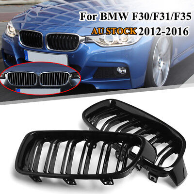 Gloss Black Front Kidney Grille for BMW F30 F31 328i 335i Sedan/Wagon 2012-2016