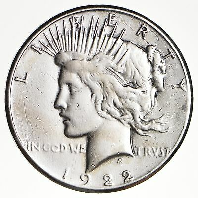 1922-S Peace Silver Dollar - San Francisco Minted - 90% Silver *747