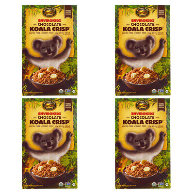4X New Nature's Path Envirokidz Organic Chocolate Koala Crisp Cereal Whole Grain