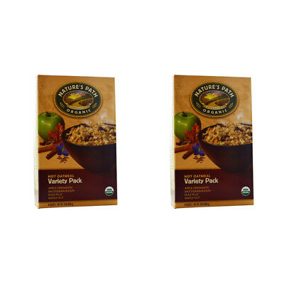 2X Nature's Path Organic Hot Oatmeal Variety Pack Whole Grain Daily Cereal Food