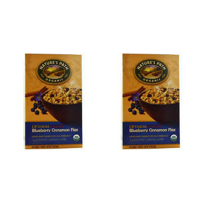2X New Nature's Path Organic Optimum Power Hot Oatmeal Whole Grain Omega 3 Daily