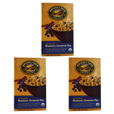 3X New Nature's Path Organic Optimum Power Hot Oatmeal Whole Grain Omega 3 Daily