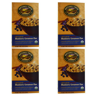 4X New Nature's Path Organic Optimum Power Hot Oatmeal Whole Grain Omega 3 Daily