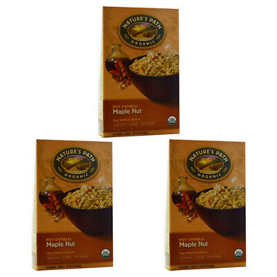 3X New Nature's Path Organic Hot Oatmeal Packets Whole Grain Daily Cereal Foods