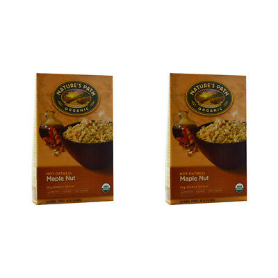 2X New Nature's Path Organic Hot Oatmeal Packets Whole Grain Daily Cereal Foods