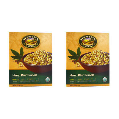 2X Nature's Path Organic Hemp Plus Granola Cereal Fiber Whole Grain Daily Foods