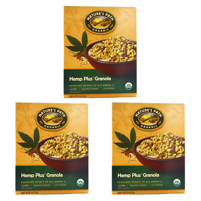 3X Nature's Path Organic Hemp Plus Granola Cereal Fiber Whole Grain Daily Foods