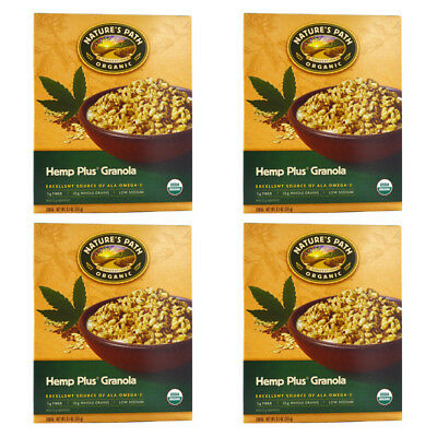 4X Nature's Path Organic Hemp Plus Granola Cereal Fiber Whole Grain Daily Foods