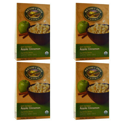 4X New Nature's Path Organic Hot Oatmeal Packets Whole Grain Daily Cereal Foods