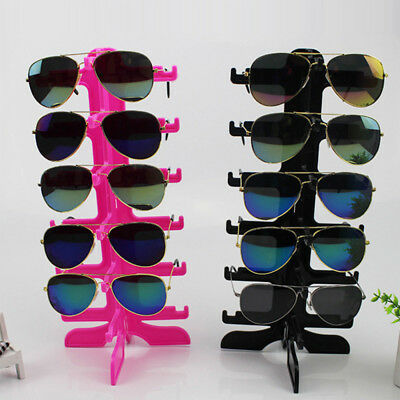 6 Pair Sunglasses Display Rack Eyeglass Frame Stand Organizer Show Holder Top
