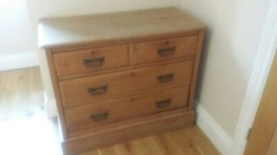 Victorian Pine Chest Of Drawers, Antique Pine Chest, Old Bedroom Furniture
