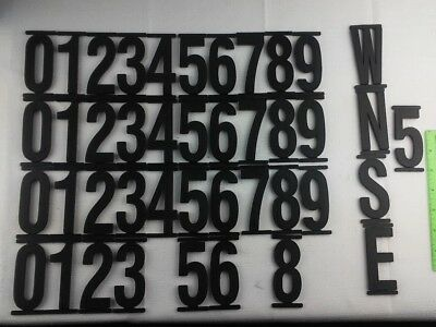 "42 Black Plastic 3.5"" Sign Numbers"
