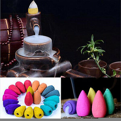 45pcs Natural Smoke Tower Cones Bullet Backflow Incense Hollow Cone Jasmine