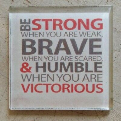 """Glass Mosaic Tile - """"BE STRONG WHEN YOU ARE WEAK..."""" ~ Mosaic Inserts, Art, C..."""