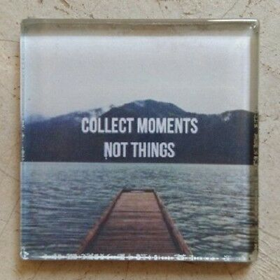 """Glass Mosaic Tile - """"COLLECT MOMENTS NOT THINGS"""" ~ Mosaic, Art, Craft Supplies"""
