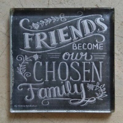 """Glass Mosaic Tile - """"FRIENDS BECOME OUR CHOSEN FAMILY"""" ~ Mosaic, Art, Craft S..."""