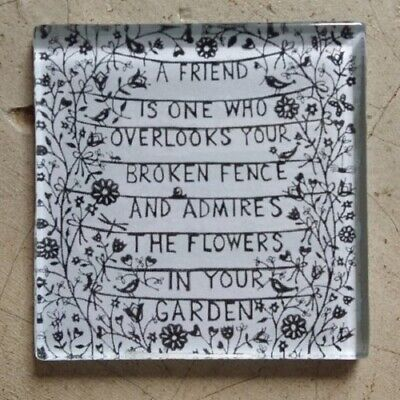 "Glass Mosaic Tile - ""A FRIEND IS ONE WHO ..."" ~ Mosaic Inserts, Art, Craft Su..."
