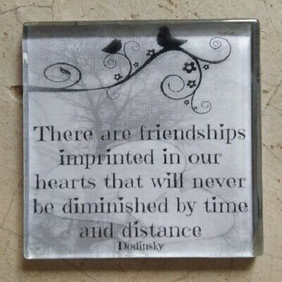 """Glass Mosaic Tile - """"THERE ARE FRIENDSHIPS IMPRINTED..."""" ~ Mosaic Inserts, Ar..."""
