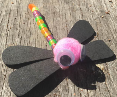 Dragonfly craft kit. Multi packs available - kids parties, kids craft - art pack