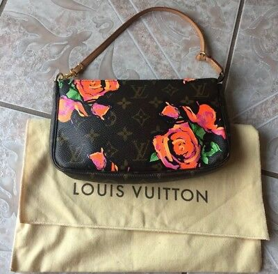 5486ae58b4f8 Louis Vuitton Monogram Stephen Sprouse Roses Limited Edition Pochette!  Rare! HTF