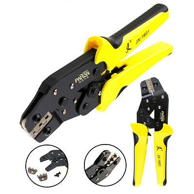 0.14-1.5 mm² Ratchet Terminal Crimping Pliers Wire Cable Cutter Crimper 26-16AWG
