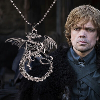 Fantaisie Collier Rétro Pendentif Game of Thrones Stark Targaryen Dragon Bijoux