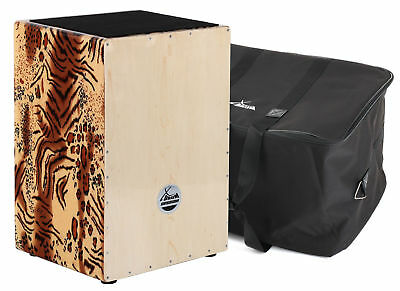 XDrum Cajon Wildcat La Peru Percussion Set mit Tasche Gigbag