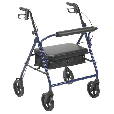 """Drive Medical Bariatric Rollator Rolling Walker with 8"""" Wheels, Blue"""