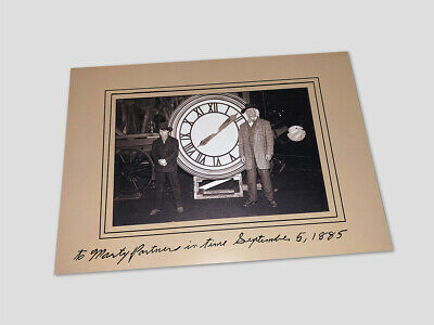 Doc and Marty in front of the Clock-Tower 1885 / BACK TO THE FUTURE Movie Prop