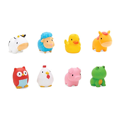 Rubber Bath Squirt Toys Munchkin Floating Farm Animal Themed for Baby, Pack of 8
