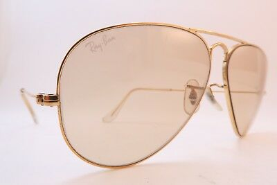Vintage B&L Ray Ban sunglasses aviator size 58-14 Photochromic etched lens USA