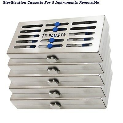 Dental Sterilization Cassettes for 5 Instrument Removable+Slim Rack Tray hold CE