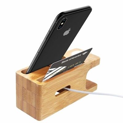 Apple Watch Stand Aerb Bamboo Wood Charging Stand Bracket Docking Station Cr...